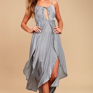 Somedays Lovin Night Hour Grey Midi Dress